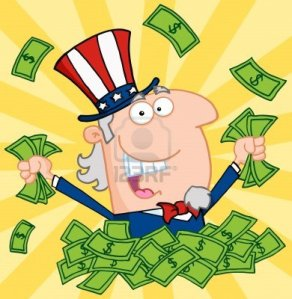 12145757-happy-uncle-sam-playing-in-a-pile-of-money