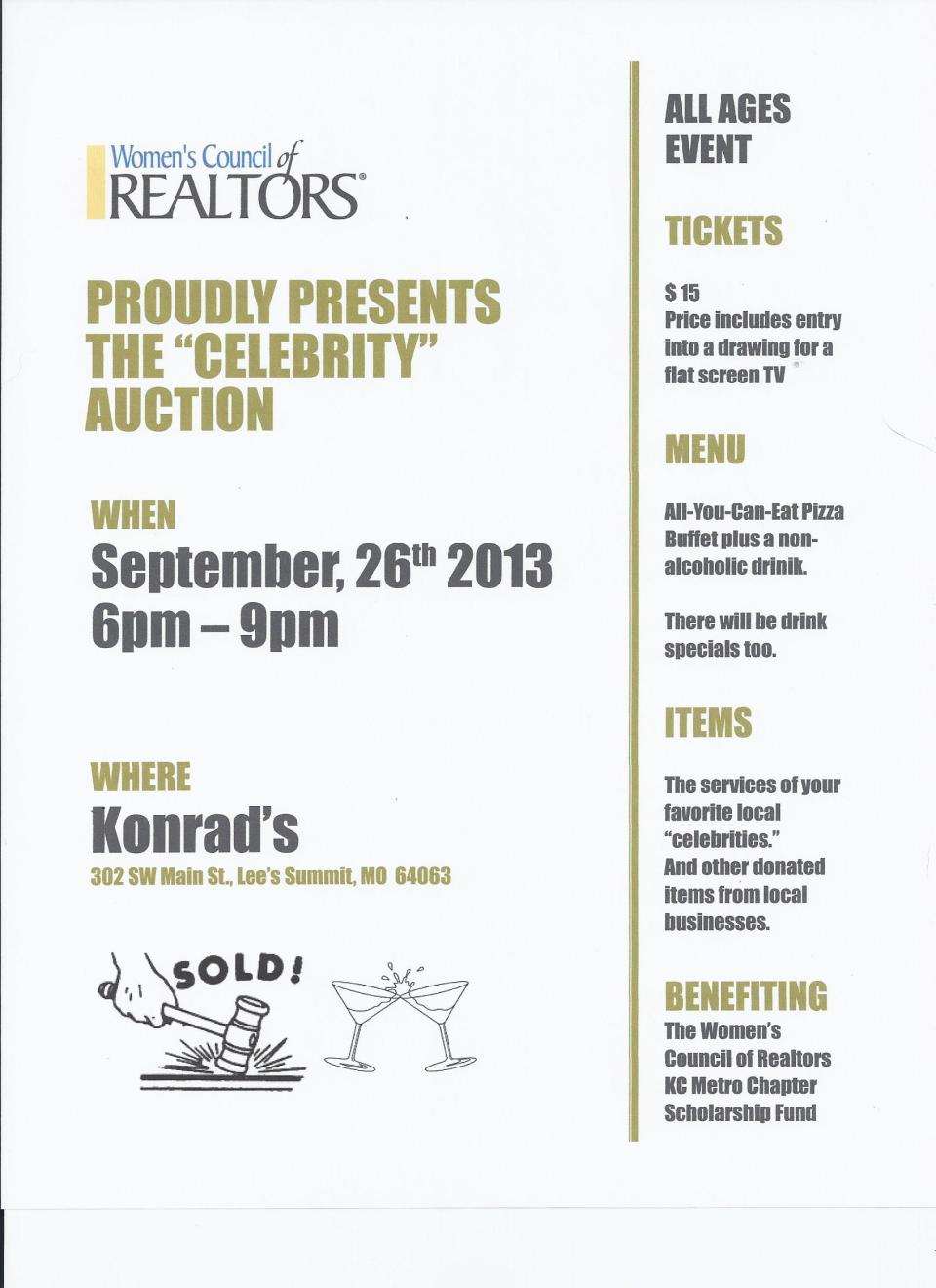 WCR Celebrity Auction