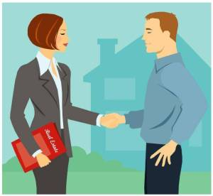 real estate transaction from clipart